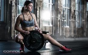 Обои pose, female, workout, fitness