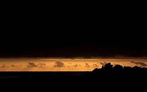 Картинка облака, закат, африка