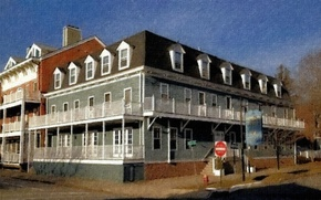 Картинка Art, Painting, Cold Spring, Hudson House, Cold Spring Hudson House