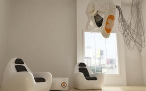 Картинка белый, фантазия, комната, мебель