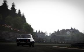Картинка трасса, размытие, Renault