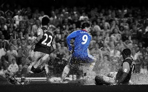 Картинка капли, дождь, Англия, гол, Football, Premier League, Челси, England, Chelsea, Stamford Bridge, West Ham, Torres, …