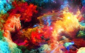 Картинка узор, краски, цвет, радуга, rainbow, объем, pattern, пятно, рельеф, color, paints, volume, spot, relief