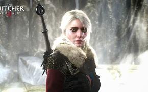 Картинка девушка, меч, The Witcher 3: Wild Hunt, Wild Hunt, witcher 3, ciri