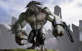 Картинка game, monster, strong, chain, Rampage, kraken, Paragon