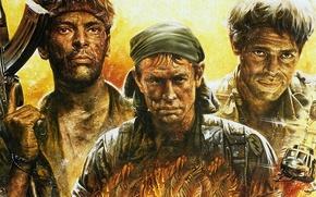 Картинка классика, военный, 1986, Уиллем Дефо, Чарли Шин, «Взвод», Platoon, Том Беренджер