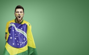 Картинка футбол, логотип, флаг, чемпионат, Brasil, Кубок мира