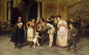 Картинка картина, живопись, painting, Менуэт, Поль Мориа