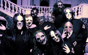 Картинка Metal, Slipknot, Nu-Metal, Ню-метал, Слипнот, Corey Taylor, Jim Root, Paul Gray, Sid Wilson, Mick Thomson, …