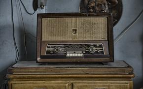 Картинка комната, радио, приёмник