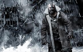 Картинка The Dark Knight Rises, разрушенный город, Бэйн, Темный рыцарь: Возрождение легенды