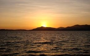 Обои море, острова, таиланд, закат