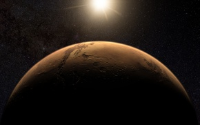 Обои звезды, планета, поверхность, марс