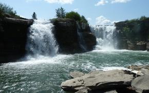 Картинка Alberta, Canada, Waterfall, Lundbreck Falls