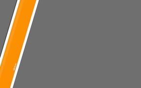 Картинка серый, полоска, минимализм, orange