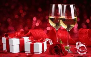 Картинка цветы, розы, valentine's day, красные розы