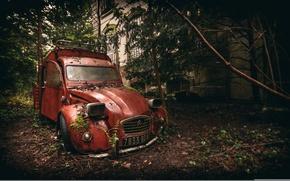 Обои rusty, abandoned, decaying, citroen