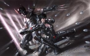 Картинка Wolverine, Marvel, comics, Domino, X-Force: Sex and Violence