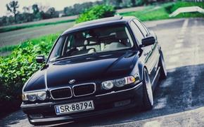 Картинка 740iA, БМВ, Black, Bimmer, Stance, E38, Бумер, BMW