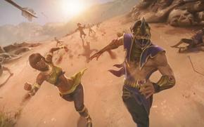 Картинка погоня, стрелы, Mortal Kombat, Таня, Рэйн
