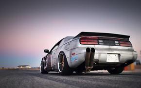 Картинка Nissan, Drift, Style, Tuning, Retro, Rims, Sportcar, Track, Exhaust, 300ZX, Z32