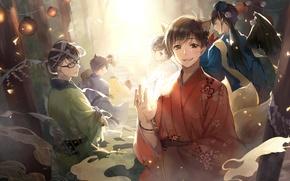Картинка аниме, арт, парни, братья, Osomatsu-San