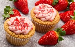 Картинка еда, клубника, фрукты, крем, food, fruit, сладкое, sweet, strawberry, cream