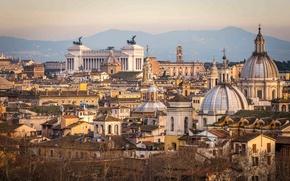 Картинка город, здания, дома, Рим, Италия, панорама, архитектура, Italy, Rome