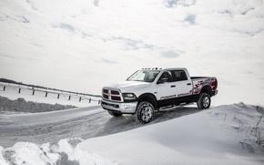 Картинка зима, снег, Dodge, додж, пикап, Power Wagon, Crew Cab, 2014, Ram 2500