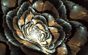 Картинка цветок, свет, графика, пятна, фрактал, боке