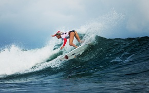 Картинка девушка, спорт, волна, surfing, Laura Enever, серфигг