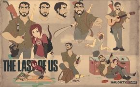 Картинка оружие, Элли, art, The Last of Us, Джоэл, Naughty Dog, PlayStation 3, Одни из нас, …
