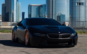 Картинка BMW, wheels, black, matte, bronze