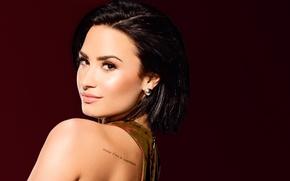 Обои фон, портрет, макияж, актриса, брюнетка, прическа, фотограф, певица, Деми Ловато, Demi Lovato, 2015, Saturday Night ...