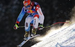 Картинка снег, трасса, Head, горные лыжи, Leki, ski, Didier Cuche