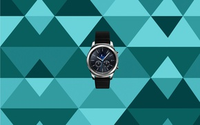 Картинка moon, watch, Samsung, calendar, Samsung Gear S, hours, Samsung Gear, smartwatch