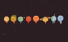Обои Планеты, Cartoons, солнечная система, Planets