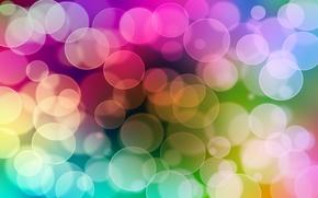 Обои круги, цвета, свет