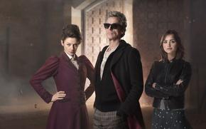 Картинка взгляд, девушка, женщина, актриса, очки, актер, мужчина, актеры, Doctor Who, Доктор Кто, Peter Capaldi, Питер …