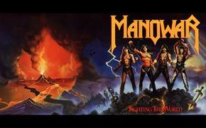 Картинка горы, музыка, молния, music, вулкан, Rock, мужчины, Рок, Power Metal, 1987, Heavy Metal, Хеви-Метал, Manowar, …
