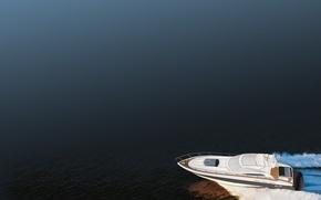 Обои лодка, минимализм, вектор, Катер