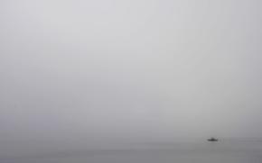 Картинка море, туман, корабль