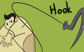 Картинка герой, dota, крюк, мясник, нарисованный, Pudge, hook
