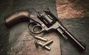 Картинка оружие, патроны, револьвер, наган, Nagant