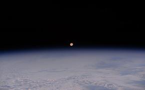 Картинка космос, земля, луна