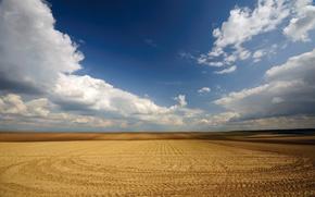Обои небо, поле, пустота