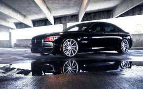 Картинка BMW, Black, vossen wheels, 750LI