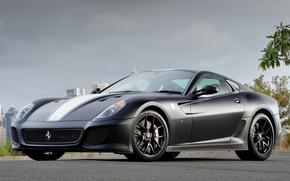 Картинка Ferrari, серая, феррари, 599, GTO