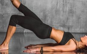 Картинка pose, yoga, posture, sportswear
