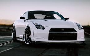 Картинка car, машина, белый, Nissan, GT-R, ниссан, R35, ГТ-Р, JDM